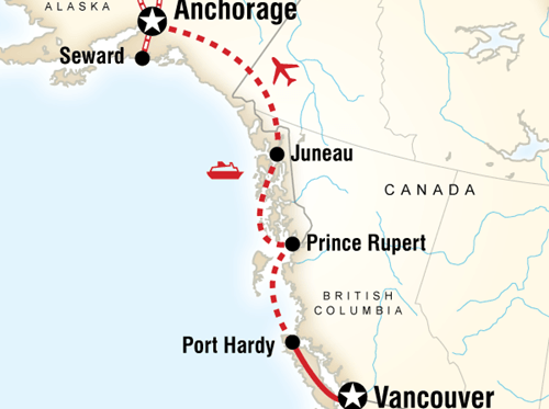 Vancouver & Alaska by Rail and Ferry