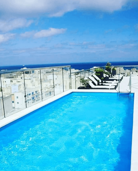 Outdoor swimming pool, The Victoria Hotel, Malta, things to do in Malta, relax in Malta